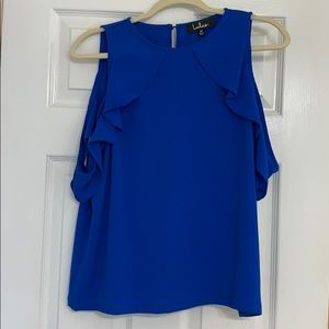 Lulus brand Royal Blue Top with shoulder detail